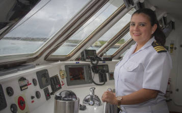 Nathaly Albán es la capitana del exclusivo Celebrity Xploration, de Celebrity Cruises. Suministrada)