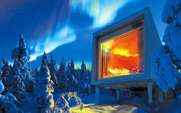 El hotel Arctic Treehouse, a solo diez minutos de Rovaniemi, es una agradable mezcla de buen diseño finlandés con todas las comodidades modernas. (Foto: EFE)