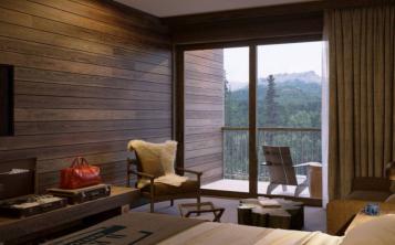 Las habitaciones y suites del McKinley Chalet Resort están en edificios de tres pisos y contarán con una decoración rústica, pero elegante. (Suministrada)
