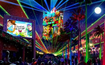 Por las noches, en Hollywood Studios, la Torre del Terror se transformará en una caja de sorpresas con rayos láser. (Suministrada / Disney Parks)